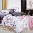 [Plum in Snow] Luxury 7PC Bed In A Bag Combo 300GSM (Queen Size)