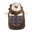 [Smile Lion] 100% Cotton Fabric Art School Backpack / Outdoor Backpack