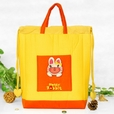 [Super Rabbit] Embroidered Applique Kids HangBag / Drawstring Bag / Bucket Bag (9.8*11*3)