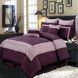 Wendy Purple 8-Piece Comforter Set Olympic Queen / European Size