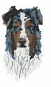 aussie007 Australian Shepherd (small or large design)