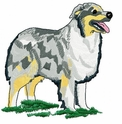 aussie026 Australian Shepherd (small or large design)