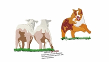 aussie033 Australian Shepherd (small and large design)