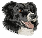 bordercollie025 Border Colllie (small or large design)