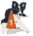 bordercollie031 Border Colllie (small or large design)