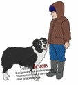 bordercollie039 Border Colllie (small or large design)