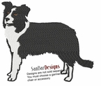 bordercollie049 Border Colllie (small or large design)