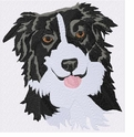 bordercollie050 Border Colllie (small or large design)