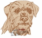 borter003 Border Terrier (small or large design)