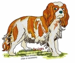 ckcs014 Cavalier King Charles Spaniel (small or large design)