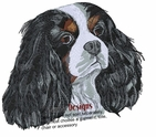 ckcs015 Cavalier King Charles Spaniel  (small or large design)