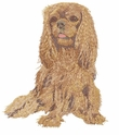 ckcs021 Cavalier King Charles Spaniel (small or large design)