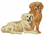 golden007 Golden Retriever (small or large design)