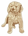 golden008 Golden Retriever (small or large design)