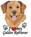 golden130 Golden Retreiver (small or large design)