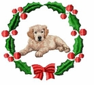 golden3wreath Holiday Designs (small or large design)