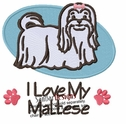 malt016 Maltese (small or large design)