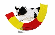pap015 Agility Tri Colored Papillon Tire Jump (small or large design)