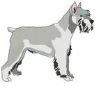 schn008 Schnauzer (small or large design)