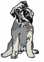 schn018 Schnauzer (small or large design)