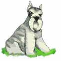 schn019 Schnauzer (small or large design)