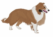 sheltie014 Shetland Sheepdog (Sheltie) (small or large design)