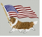 sheltie018 Shetland Sheepdog (Sheltie) (small or large design)