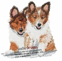 sheltie023 Shetland Sheepdog (Sheltie) (small or large design)
