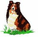 sheltie028 Shetland Sheepdog (Sheltie) (small or large design)