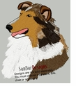 sheltie037 Shetland Sheepdog (Sheltie) (small or large design)
