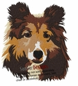 sheltie040 Shetland Sheepdog (Sheltie) (small or large design)