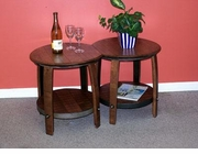 Barrel CoffeeTable with Shelf