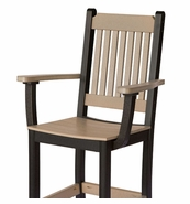 Pair of Poly Lumber Mission Chair Arms