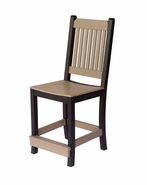 Pair of Poly Lumber Mission Counter Height Chairs