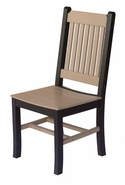 Pair of Poly Lumber Mission Dining Chairs