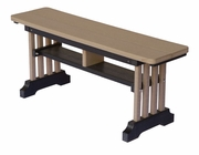 Poly Lumber 42-inch Straight Mission Bench