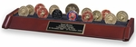 3-Row Challenge Coin Display