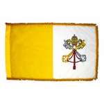 4' X 6' Fringed Papal Flag