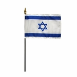 "4"" X 6"" Handheld Israel Flags"