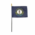 "4"" X 6"" Kentucky Stick Flags"