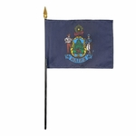 "4"" X 6"" Maine Stick Flags"