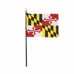 "4"" X 6"" Maryland Stick Flags"