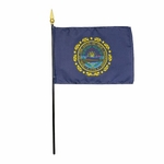 "4"" X 6"" New Hampshire Stick Flags"
