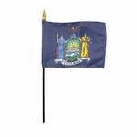 "4"" X 6"" New York Stick Flags"