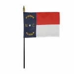 "4"" X 6"" North Carolina Stick Flags"