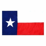 4' X 6' Nylon Indoor/Parade Texas State Flag - Fringed or Unfringed