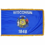 4' X 6' Nylon Indoor/Parade Wisconsin State Flag