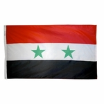 4' X 6' Nylon Syria Flag