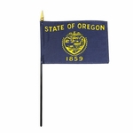 "4"" X 6"" Oregon Stick Flags"