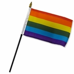 "4"" X 6"" Rainbow Stick Flags"